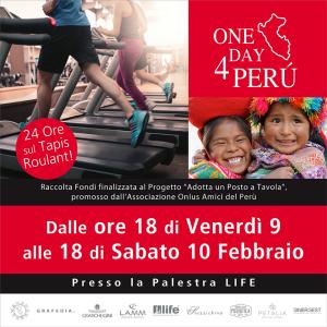Sinergest sul Tapis Roulant per l'iniziativa benefica 'One Day 4 Perù'